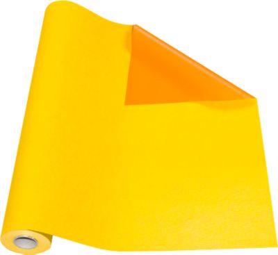 Verpakkingspapier geel/oranje, rol L 50 m x B 500 mm, aan beide zijden te gebruiken.