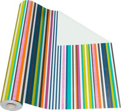 Verpakkingspapier met gekleurde strepen, rol L 50 m x B 500 mm