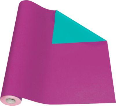 Verpakkingspapier paars / groen, rol L 50 m x B 500 mm, aan beide zijden te gebruiken.