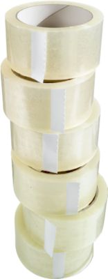 Verpakkingstape, 50 mm x 66 m, 6 rollen, transparant