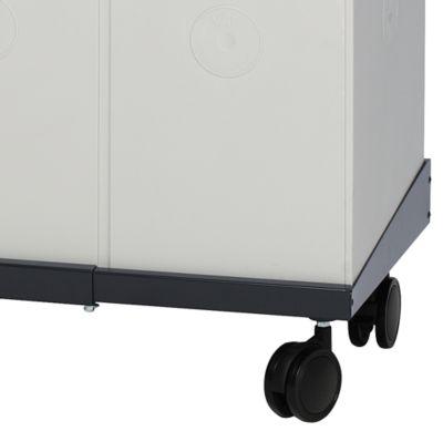 Verrijdbaar onderstel voor Karat 2000 pre-selectieve afvalbak, 1010-1410 mm verstelbaar