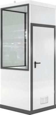 Verrijdbaar ruimtesysteem WSM, L 1045 x B 1045 mm, voor buitenmontage, met vloer, met grijswitte RAL 9002/ anthr.grau RAL 7016