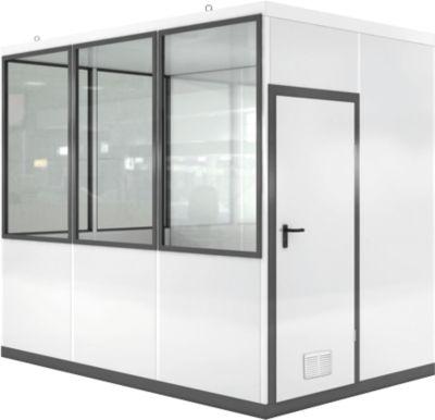 Verrijdbaar ruimtesysteem WSM, L 3045 x B 2045 mm, voor buitenmontage, met vloer, met grijswitte RAL 9002/ anthr.grey RAL 7016