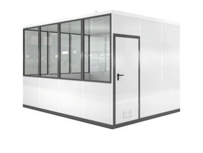 Verrijdbaar ruimtesysteem WSM, L 4090 x B 3045 mm, voor buitenmontage, met vloer, met grijswitte RAL 9002/ anthr.grey RAL 7016