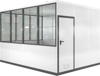Verrijdbaar ruimtesysteem WSM, L 4090 x B 3045 mm, voor gebruik binnenshuis, zonder vloer, grijswit RAL 9002/anthr.grey RAL 7016