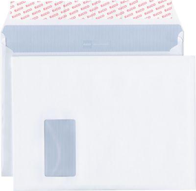 Versandtaschen C4 Elco Kuverts Documento C4 plus, weiß, mit Fenster, 200 Stück