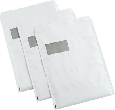Versandtaschen DEBASECURA, DIN C4, 250 x 315 mm, weiß/silber