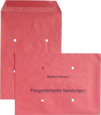 Versandtaschen Freistempler, rot, 250 Stück