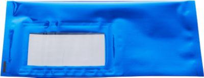 Versandtaschen metall. DIN lang, blau