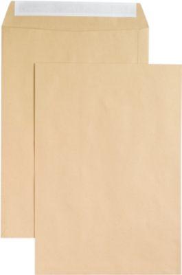 Versandtaschen, ohne Fenster, haftklebend, 120 g/m², DIN B4, 250 Stück, natronbraun