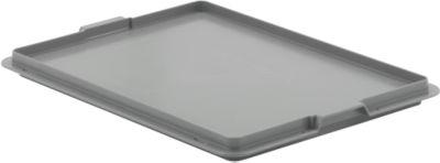 Verschlussdeckel EF-D 43 für Kasten im EURO-Maß, grau