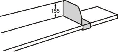 Verschuifbare vakverdeler, 400 mm diep