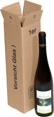 Verzenddozen voor wijnflessen, 1 fles/doos, 20 stuks