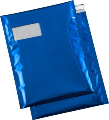 Verzendzakken, gemetal., C4, blauw