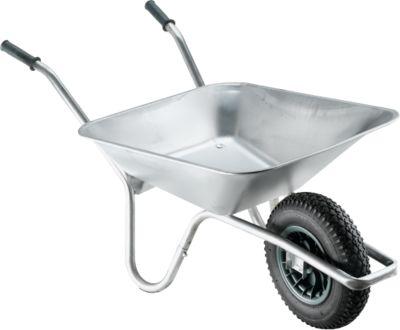 Verzinkte kruiwagen, 100 liter, 13,5 kg, draagvermogen 250 kg