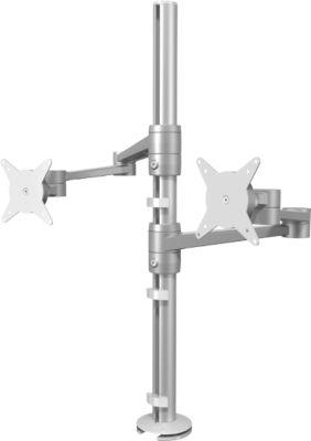 ViewLite-monitorarm 142, 2 scharnierarmen, voor 2 x 24 inch monitoren, 360 graden draaiing