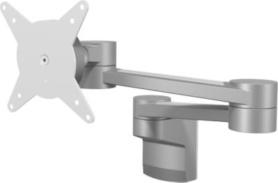 ViewLite monitorarm 222, f. wandmontage, voor 24 inch monitoren, met diepte-instelling