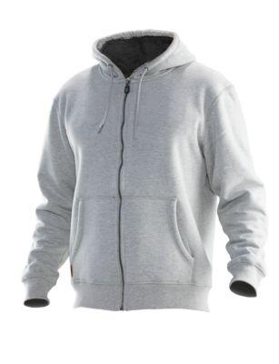 Vintage Hoodie gefüttert grau/dunkelgrau XL