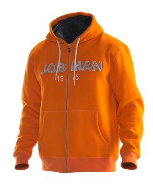 Vintage Hoodie orange/grau 3XL