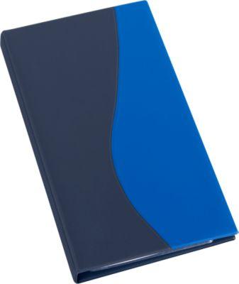 Visitekaart.-ringboek A5,blauw