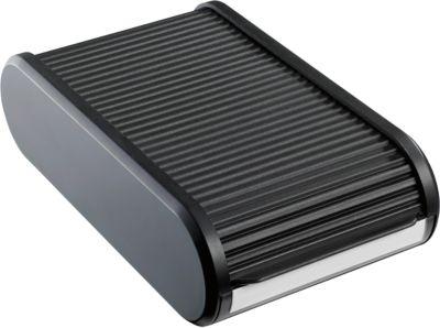 Visitekaartbox voor 300 visitjekaarten,zwart