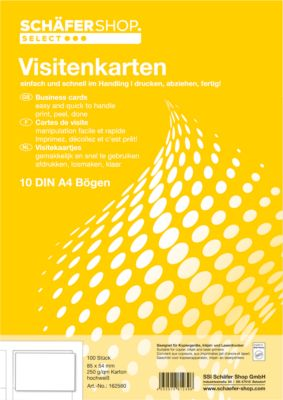 Visitenkarten, 10 Bl./100 St. 250g SSI