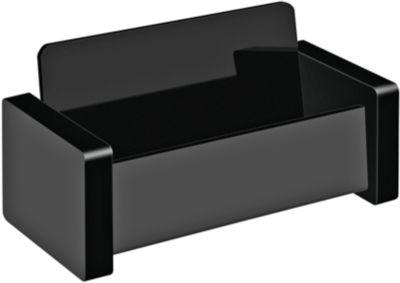 Visitenkartenständer WEDO Black Office, schwarz mattiert/glänzend