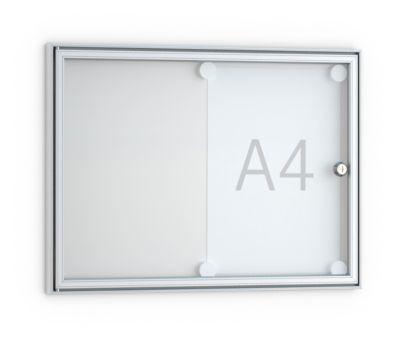 vitrinekast,Mod. B3, zilver geelox.