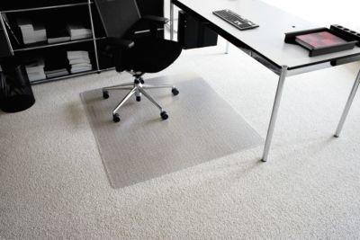 Vloerbeschermingsmat van transparante Makrolon®, 900 x 1200 mm, voor tapijten.