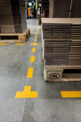 Vloermarkering Durable, zelfklevend in T-vorm, voor vloer, 10 stuks