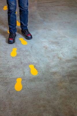 Vloermarkering Durable, zelfklevend in voetvorm, voor vloer, 5 paar