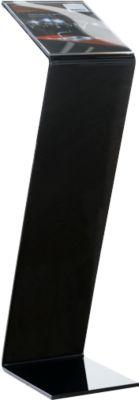 Vloerstandaard, acryl, b 220 x d 300 x h 850 mm, zwart