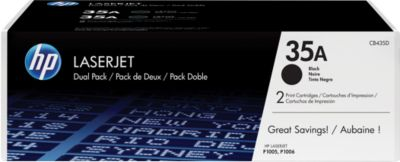 Voordeelpak 2 x HP LaserJet CB435AD printcassette zwart