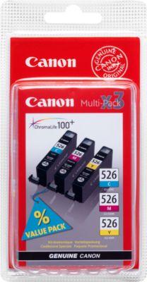 Voordeelpak 3 stuks Canon inktpatronen CLI-526 cyaan/magenta/geel