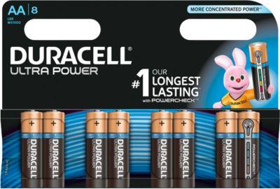 Voordeelpak: DURACELL® batterijen Ultra Power, Mignon AA, pak van 8