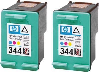 Voordeelpak :  HP inktpatronen C9505EE, nr. 344, color, 2 stuks