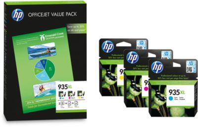 Voordeelpakket HP 935XL + 75 vel papier