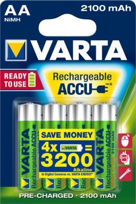 Voordeelset met VARTA Power Play Longlife batterijen, opladbaar, Mignon AA, 4 stuks