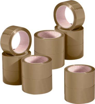 Voordeelset: NOPI® verpakkingstape Classic 4042 PP, 50 mm x 66 m:  10 rollen + 2 rollen gratis, bruin