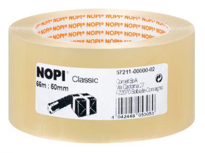 Voordeelset: NOPI® verpakkingstape Classic 4042 PP, 50 mm x 66 m:  10 rollen + 2 rollen gratis, transparant
