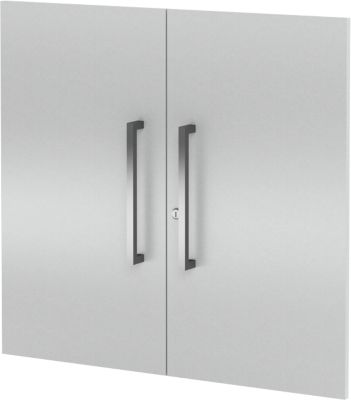 Vorbautüren-Set AXXETO, 2 OH, H 760 mm, lichtgrau