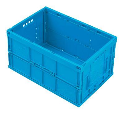 Vouwbox 60 l, blauw, gesloten