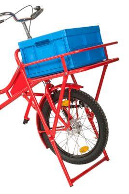 Vouwbox voor transportfiets, kunststof, zonder deksel, ruimtebesparend opvouwbaar