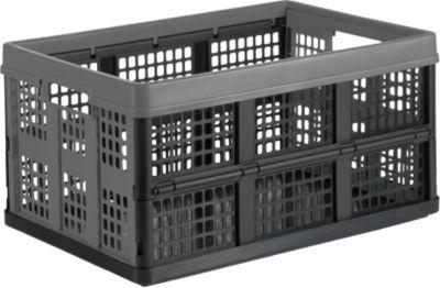 Vouwdoos voor vouwbare mobiele CLAX, 46 l, grijs/zwart