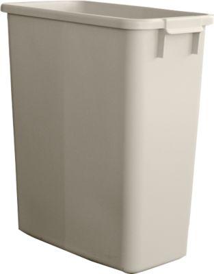 Vuilnisbak zonder deksel, 60 liter, grijs
