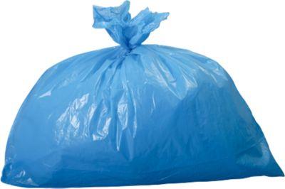 Vuilniszakken 60 liter, blauw, 250 stuks
