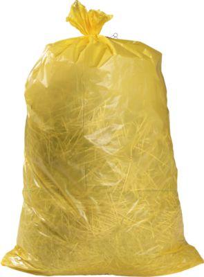 Vuilniszakken Premium (LDPE) 120 liter, geel, 100 stuks