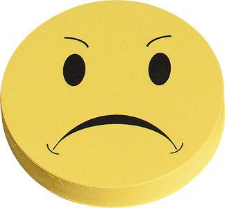 Waarderingssymbolen, negatief, Ø 10 mm, geel, 100 st.
