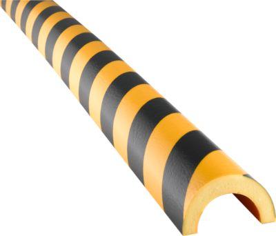Waarschuwingsbeschermingsprofiel type 350, polyurethaanschuim, geel/zwart, lengte 1 meter