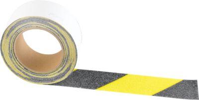 Waarschuwingsmarkering voor buitengebruik, 50 mm x 25 m, zwart/geel